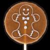 Christmas Ginger Bread Man Lollipop
