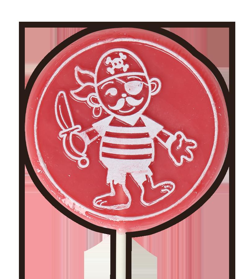 Pirate lollipop strawberry flavoured
