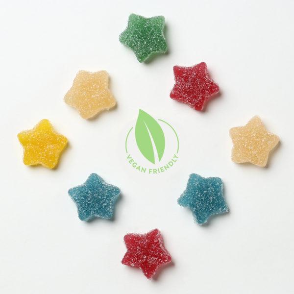 Vegan Fizzy Jelly Stars Sweets