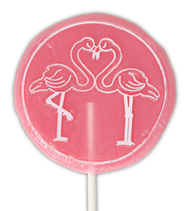 flamingo raspberry vegan lolly