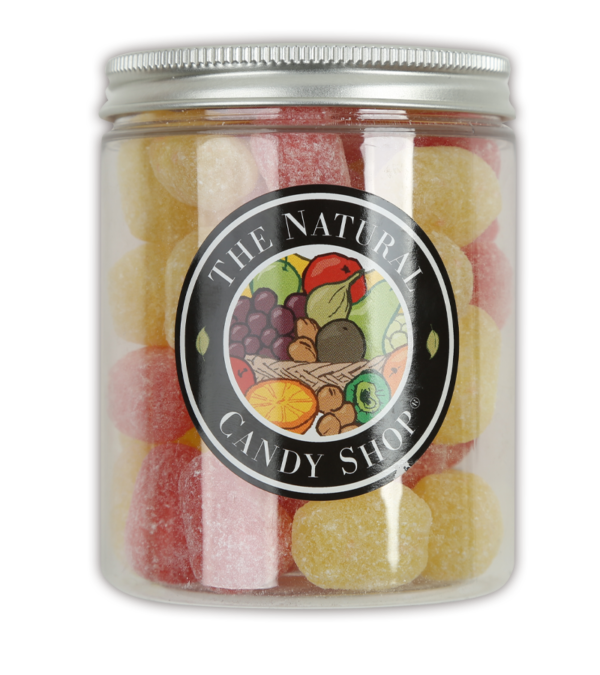 Jar of traditional Pear Drops Sweets