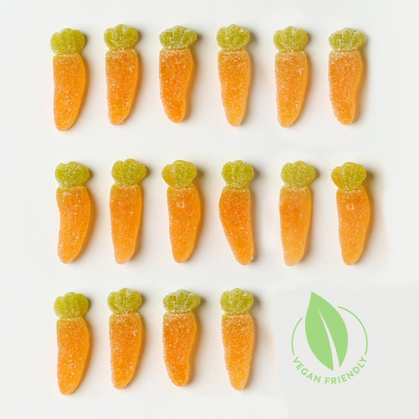Vegan Sweets Fruit flavoured Sugared Carrots