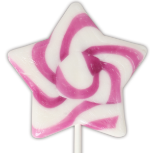Natural Star Swirl Lollipops
